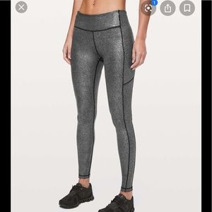 Lululemon foil speed tights nwot